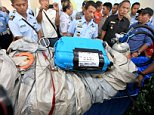 Sonar detects wreckage of flight 8501 upside down on bottom of the Java Sea as search pilot reveals victims were found holding hands amid parts of the doomed jet
