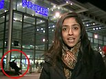 Shocking moment pedestrian is knocked over by motorcyclist outside St Pancras train station during live ITV News report